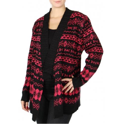 Wholesale S62A Knit cardigan Fuchsia 1 XLarge