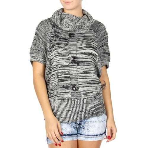 Wholesale U15C Marled cowl neck sweater White