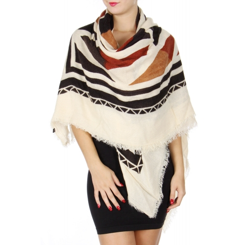 Wholesale S77A Fringe hem square scarf shawl
