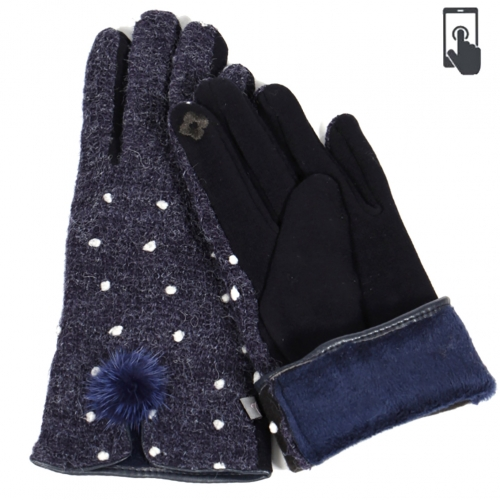 Wholesale Q16D Pom pom touch screen gloves
