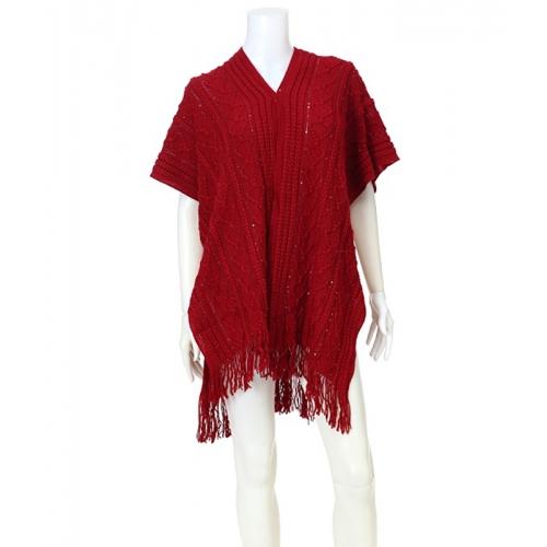 Wholesale T63 Textured knit shawl vest