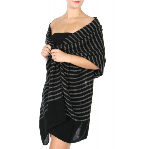 wholesale S86A Oversized woven stripe scarf