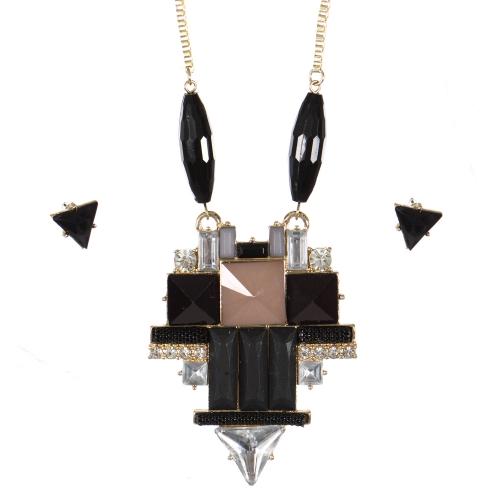 Wholesale Stone pendant necklace set GBK