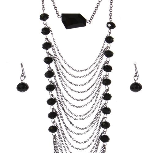 Wholesale Multi strand long necklace set HTJT
