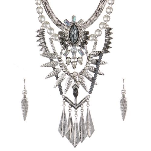 Wholesale Tribal bib necklace set SBGY