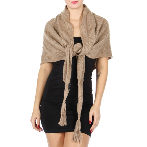 Wholesale S15B Tassel triangle scarf