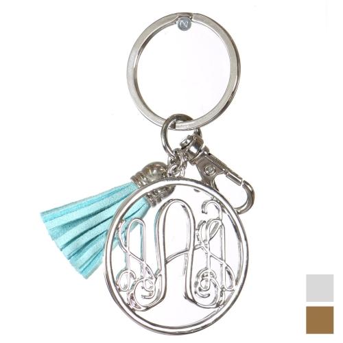 Wholesale L12B Tassel keychain Letter A