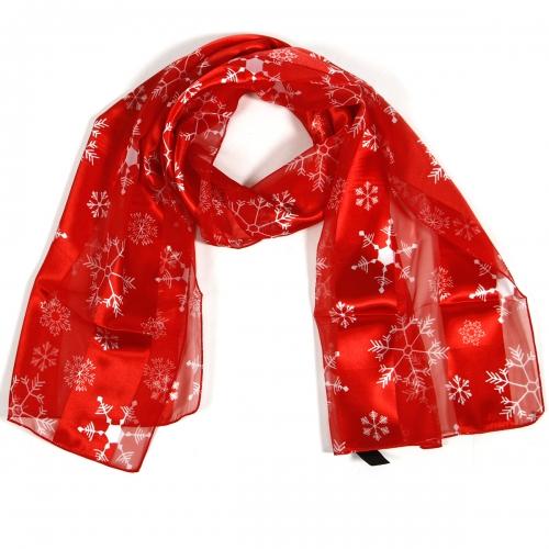 Wholesale WA00 Satin stripe scarf MULTI SNOWFLAKE