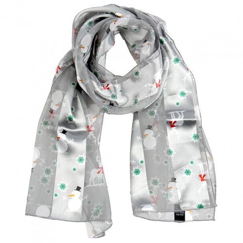Wholesale WA00 Satin stripe scarf WINTER WONDERLAND