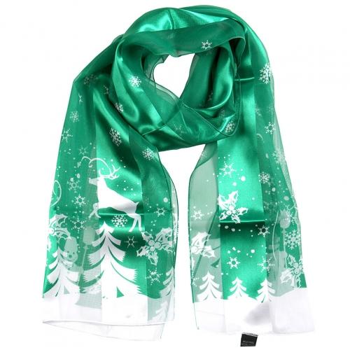 Wholesale WA00 Satin stripe scarf SNOWY DAY
