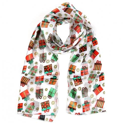Wholesale WA00 Satin stripe scarf GIFT BOX