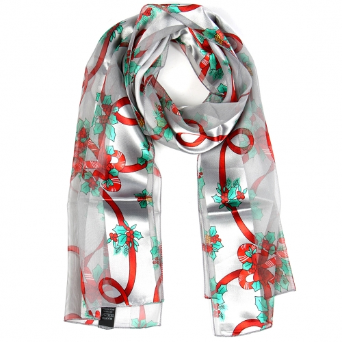 Wholesale WA00 Satin stripe scarf CANDYCANE