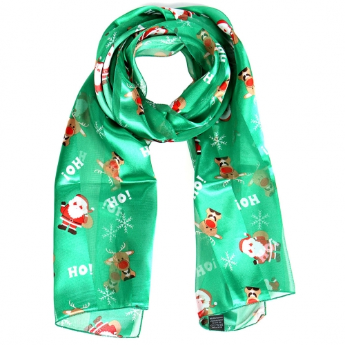 Wholesale WA00 Satin stripe scarf HOHO SANTA