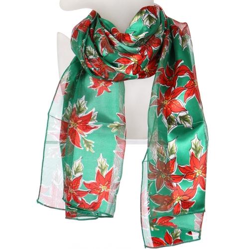 Wholesale WA00 Satin stripe scarf POINSETTIA