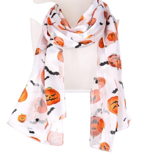Wholesale WA00 Satin stripe scarf PUMPKIN & BAT