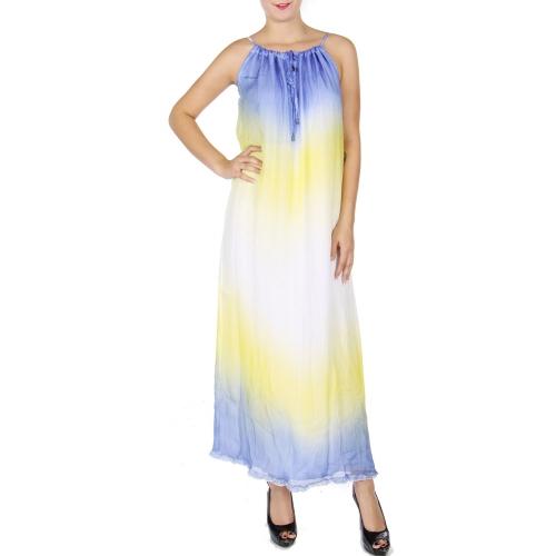 Wholesale Q12-1A Cotton blend maxi dress