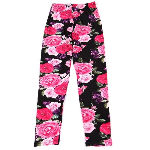 Wholesale B02A Girls print leggings ROSE