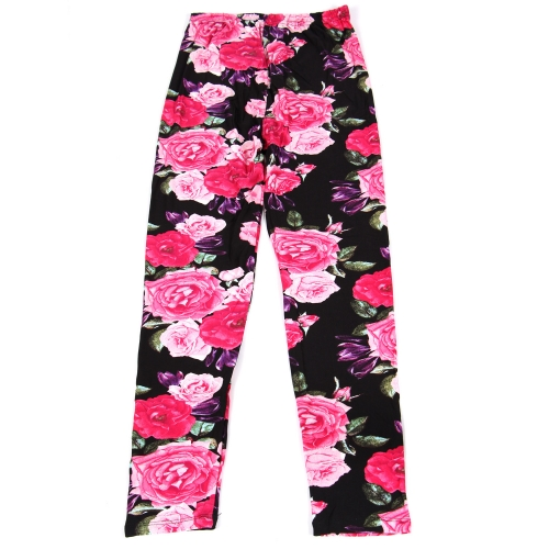 Wholesale B02A Girls print leggings ROSE