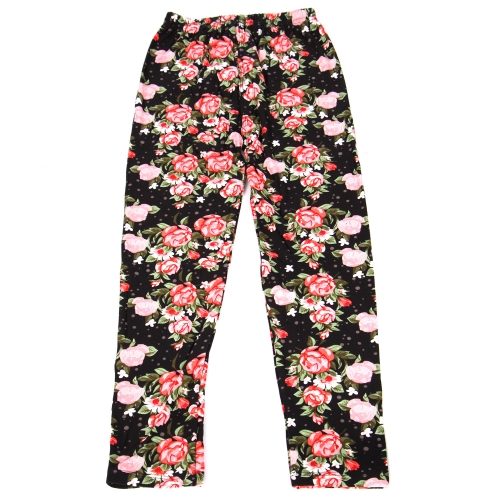 Wholesale B02A Girls print leggings TINY ROSE