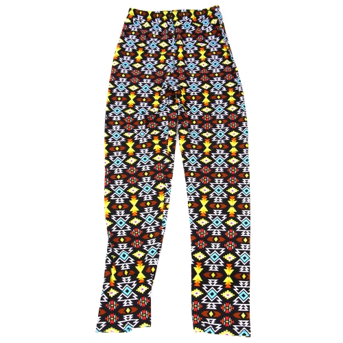 Wholesale B04A Girls print leggings AZTEC