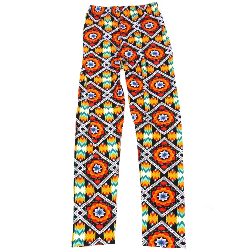Wholesale B04A Girls print leggings ABSTRACT AZTEC