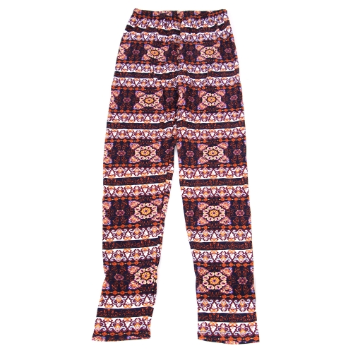Wholesale B04A Girls print leggings STRIPE MANDALA