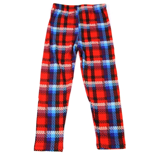 Wholesale B04B Girls print leggings PLAID