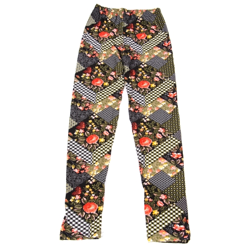 Wholesale B06B Girls print leggings PATCHWORK