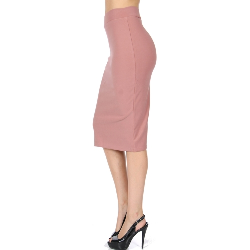Wholesale B08 Solid pencil skirt Black