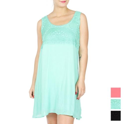 Wholesale K61D Cotton empire waist dress BLACK