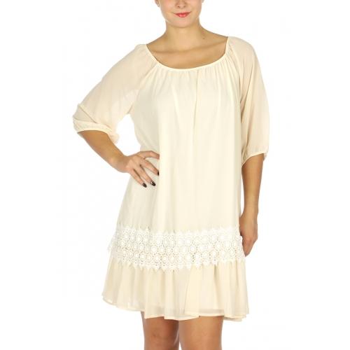 Wholesale WA00 Lovely Lace Accent U Neck Dress Black