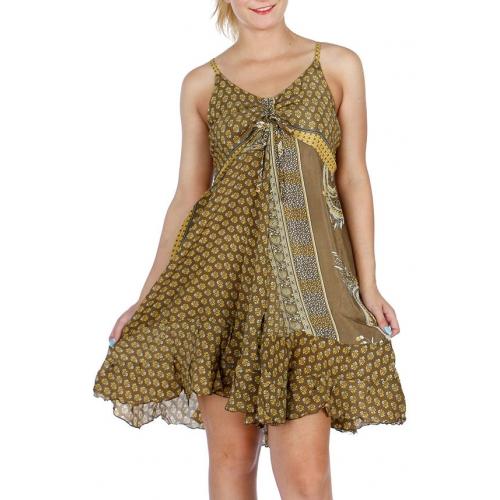 Wholesale G49B Short Hi Low Sari Dress BD