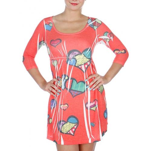 wholesale Multicolor hearts sublimation short dress WH S