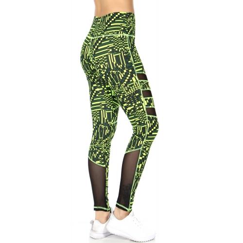 Wholesale F12A Mesh panel yoga leggings