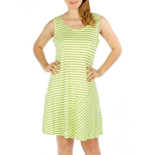 Wholesale O28B Simple Stripe Dress FUCHSIA