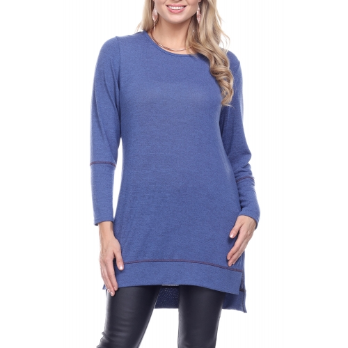 Wholesale K77A Solid high low tunic PLUS SIZE