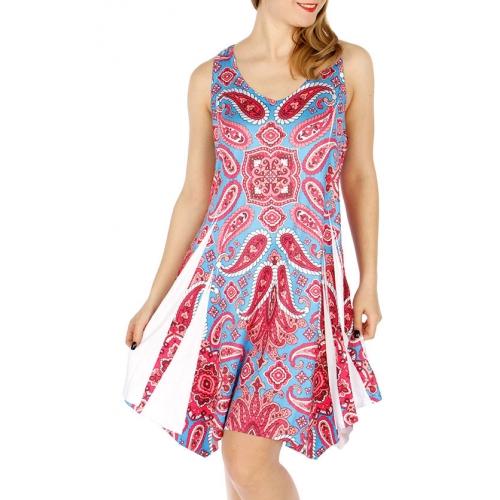 Wholesale WA00 Lace racerback paisley dress PK