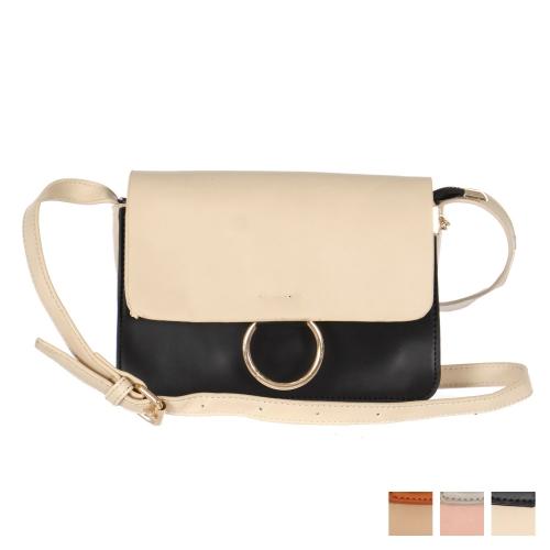 Wholesale S27C Colorblock faux leather handbag