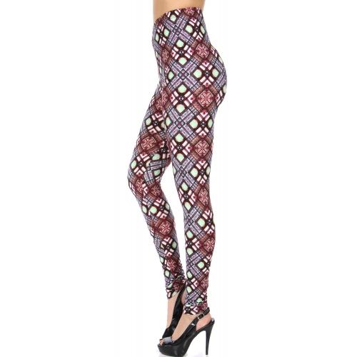 Wholesale S20B NEW MIX Soft brushed print leggings Brush Art