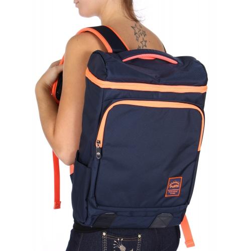 Wholesale U11C Laptop backpack Navy/Orange