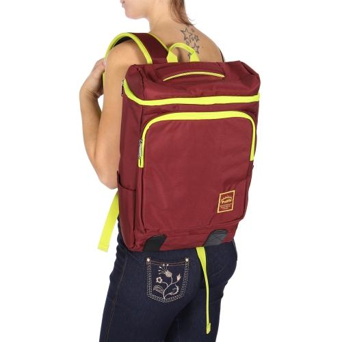 Wholesale U11C Laptop backpack Burgundy/Yellow