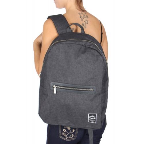 Wholesale U11C Zip closure backpack Charcoal