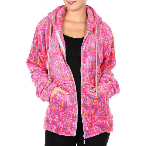 Wholesale F27 Letter print hooded jacket XL Black
