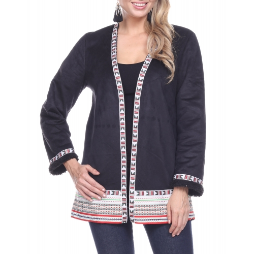 Wholesale T61C Sherpa trim jacket BLACK