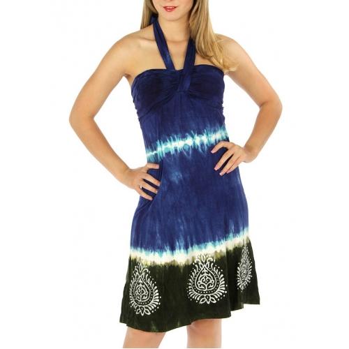 N12 Tie dye effect halter wholesale dress FU fashionunic