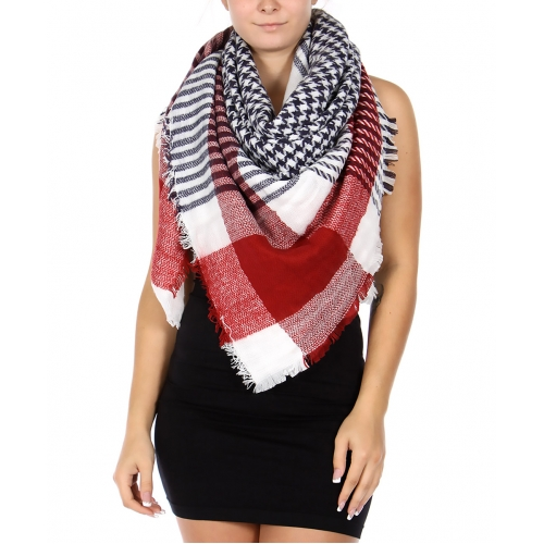 Wholesale Q61S Houndstooth checker shawl BE