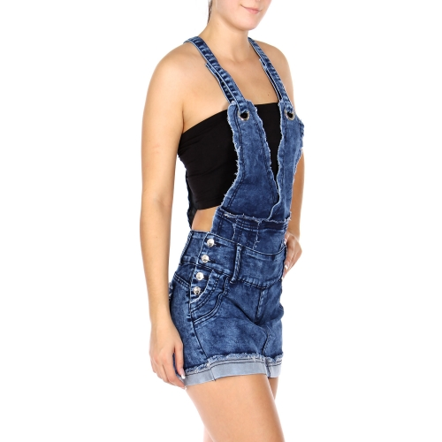 Wholesale E25 Cotton blend Skirt/shorts denim romper