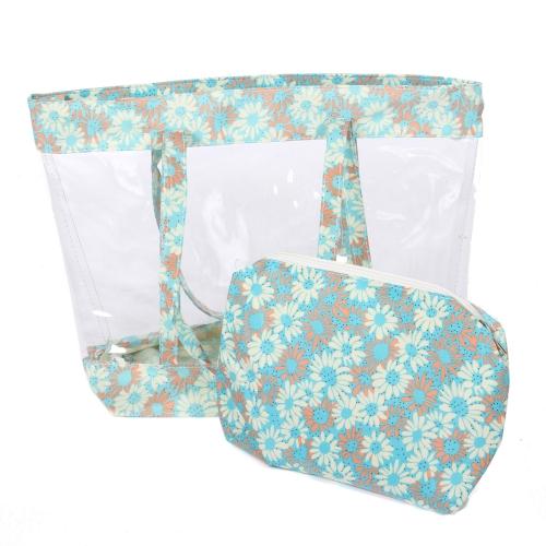 Wholesalse S65C Clear flower tote bag Mint