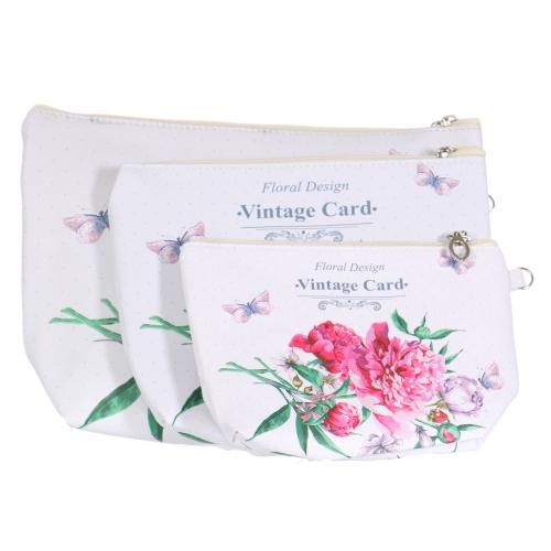 Wholesalse S26C 3 in 1 flower cosmetic bag