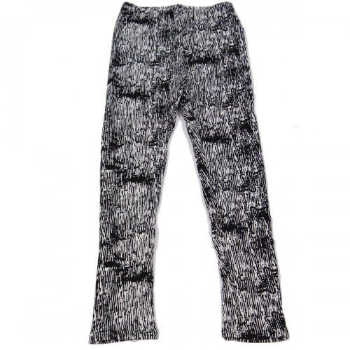 Wholesale C00 Thermal fur inside girls leggings BK/WT